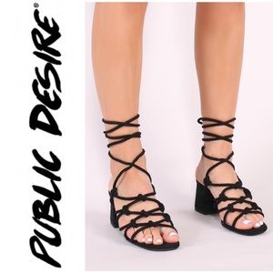 649c9d13592 Public Desire Shoes | Freya Block Heel Sandal In Leopard | Poshmark